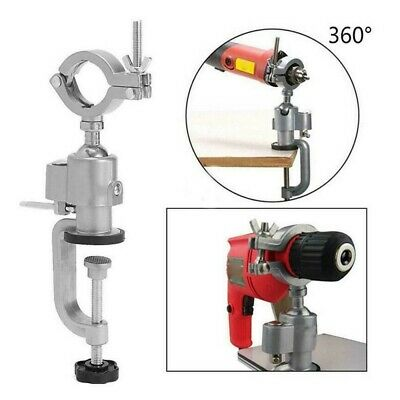 360° Rotate Clamp-on Grinder Holder Bench Vice Table Vise Electric Drill Stand • 10.99£