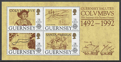 Guernsey - 1992, Discovery Of America By Columbus Sheet - MNH - SG MS560 • 1.50£