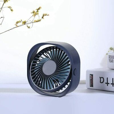Portable Quiet Lightweight USB Desk Fan 3speed Adjustable • 10£