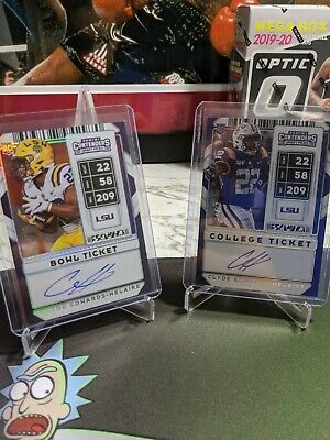 $63 • Buy 2020 Contenders CLYDE EDWARDS-HELAIRE RC AUTO Bowl Ticket /25 College Ticket /23