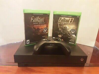 $232.50 • Buy Used Xbox One X Console Bundle Includes Fallout 3 And Fallout New Vegas