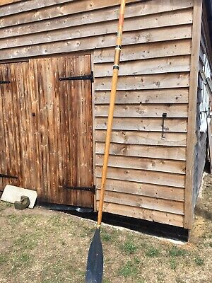 """Vintage E.Ayling & Sons The Racing Blade Experts Wooden Oar /blade 9ft 8"""" • 24.99£"""