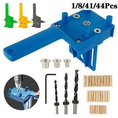 1/8//44Pcs Woodworking Doweling Jig Drill Guide Wood Dowel Drill Hole Tool HOT • 10.49£