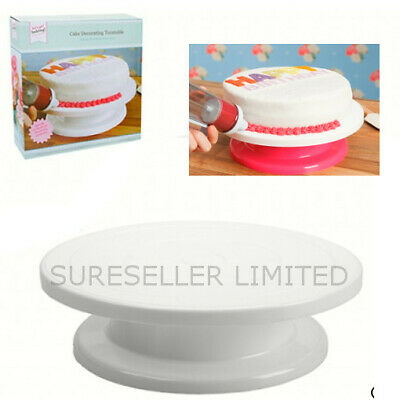 ROTATING CAKE ICING DECORATING REVOLVING KITCHEN DISPLAY STAND TURNTABLE 27.5cm • 9.89£