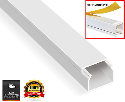 £3.89 • Buy Electrical Cable Trunking Plastic Cable Conduit PVC Wire Cover Mini Trunk White