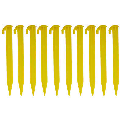 £4.24 • Buy 10pcs 5.8  Yellow Plastic Tent Pegs Nails Sand Ground Stakes Camping Awning