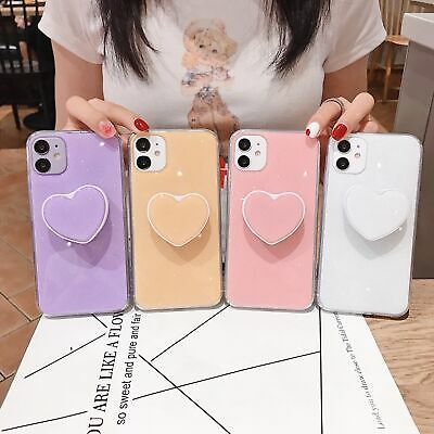AU11.44 • Buy Ring Case For IPhone 7 8 Plus X XS XR 11 Pro Max With Love-shaped Holder Case