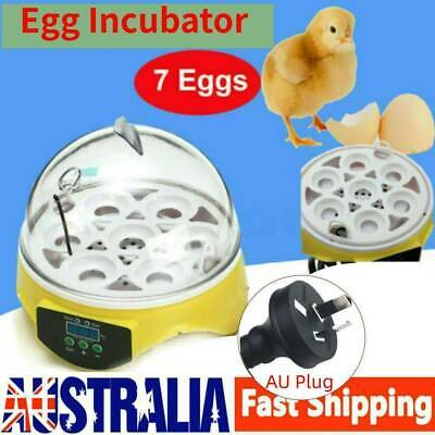 AU25.99 • Buy 7 Egg Incubator Fully Automatic Digita Turning Chicken Duck Poultry Hatcher AU