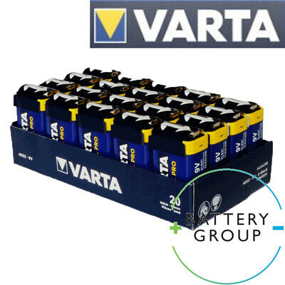 VARTA Industrial 9V BATTERIES PP3 BLOCK ALKALINE MN1604 Replace PROCELL (10 Pack • 10.79£