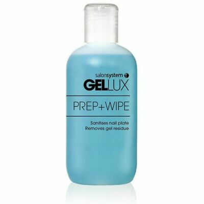 Salon System Gellux Profile Nail Gel Cleanser Prep And + Wipe Off Solution 250ml • 9.45£