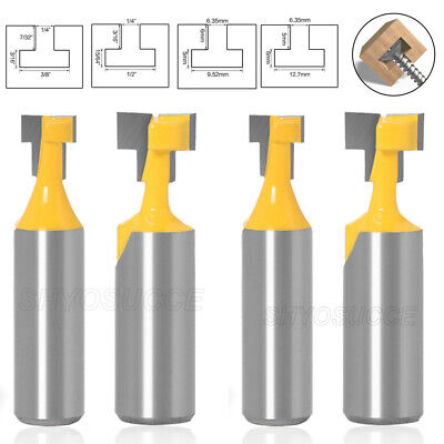 £5.84 • Buy 1/2 Inch Shank T-Slot Router Bit T-Track Slotting Carbide Wood Milling Cutter