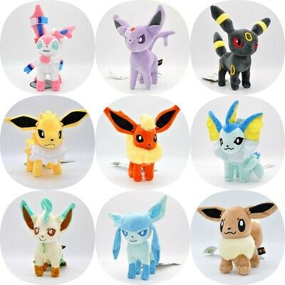 8  Pokemon 9 Type Standing Eevee Plushie Plush Doll Soft Toy Kids Cute Gifts • 7.39£
