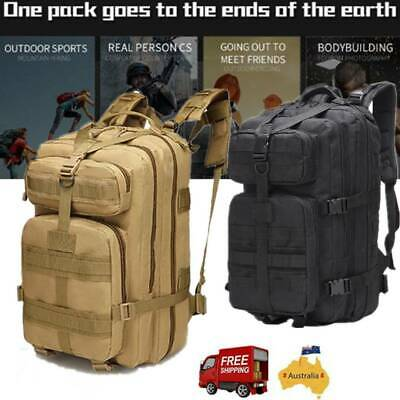 AU26.81 • Buy Outdoor Tactical Backpack Shoulder Army Rucksack Camping Hiking Hunting Bag AU