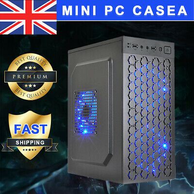 Micro ATX ITX Black USB 2.0 Office Gaming Computer Desktop Case PC Case LED Fan • 32.15£