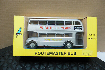 VINTAGE BUDGIE 1/76 ROUTEMASTER BUS 25 FAITHFUL YEARS No705 DIECAST MINT IN BOX • 14.99£