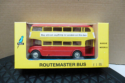 VINTAGE BUDGIE 1/76 ROUTMASTER BUS SHOP LINKER No704 DIECAST MINT IN BOX • 14.99£