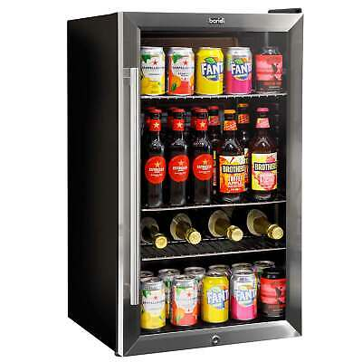 £269.98 • Buy Baridi 80L Under Counter Drinks & Wine Fridge With LED Light, Stainless Steel