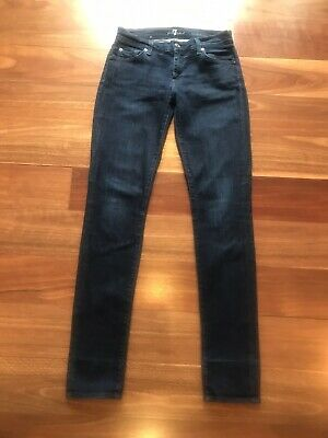 AU35 • Buy 7 For All Mankind, Roxanne, Mid - Rise, Slim - Fit, Womens, Blue Jeans