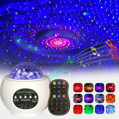USB Galaxy Star Night Lamp LED Starry Sky Projector Light With Ocean Wave Music • 20.80£