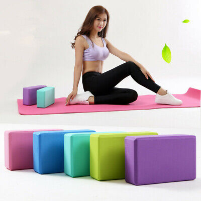 2 X Yoga Block EVA Foaming Foam Brick Pilates Exercise Gym Fitness Up Stretching • 6.99£