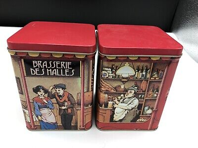 Two Empty French Kubli Fruit Candies Sweet Tins - Brasserie Des Halles  • 6.99£