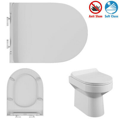 £14.95 • Buy LUXURY D Shape White Toilet Seat Quick Release Top Fixing Soft Slow Close Hinges