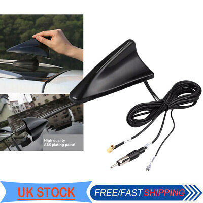 DAB Car Shark Fin Aerial Antenna Roof AM/FM Radio SMA Adapter Decorate RG174 UK • 21.25£