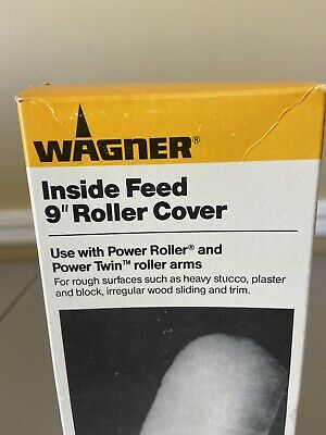 Wagner 1 1/4th In. X 9 In. Inside Feed Roller Cover Use W Power Roller NEW • 11.46£