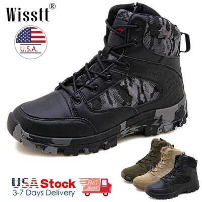 $42.99 • Buy Mens Work Boots Waterproof Military Tactical Army Combat Hiking Ankle Shoes SZ