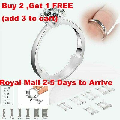 10Pcs Set Invisible Design Ring Size Clip Guard Resizer Adjuster Reducer UK New • 2.28£