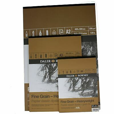 £10.20 • Buy Daler Rowney Fine Grain Artists Drawing Sketch Paper Pad 200gsm A2, A3, Or A4