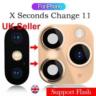 £3.99 • Buy Metal Lens Sticker Protector Fake Camera IPhone X Change To IPhone 11 Pro Max