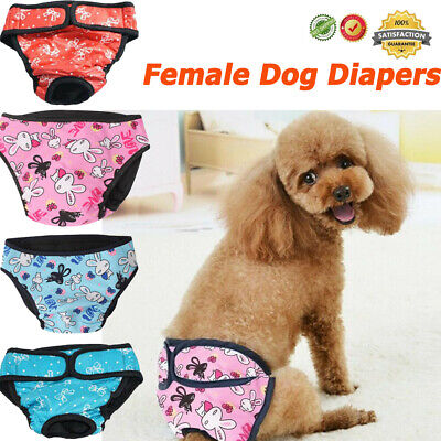 Female Dog Diapers Comfort Belly Band Physiological Sanitary Period Pant Pet • 6.49£