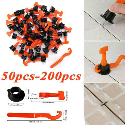 200PC Tile Leveling System Kits Leveler Tile Spacer Wall Floor Tool Construction • 30.98£