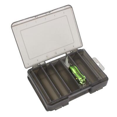 Double Sided Fishing Tackle Box 12 14 Compartments Bait Lure Hook Storage Boxes • 5.63£
