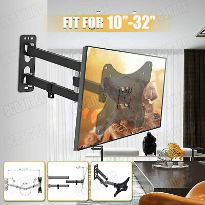 Up To 40inch TV Wall Bracket Mount Bracket Swivel Tilt LED LCD Monitor Black • 9.79£
