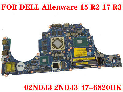 $ CDN809.45 • Buy FOR DELL Alienware 15 R2 17 R3 Laptop Motherboard 2NDJ3 I7-6820HK 100% Test Work