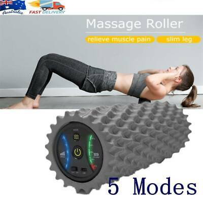 AU109.25 • Buy 5 Modes Electric Vibrating Foam Roller Yoga Trigger Massage Muscle Pain Relief