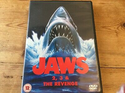 Jaws 2 3 &the Revenge. Cert 12  • 5£