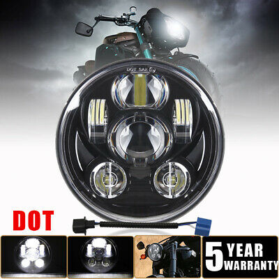 $36.87 • Buy DOT 5-3/4  5.75 LED Headlight Sealed Headlamp Fit Yamaha V-Star XVS 650 950 1100