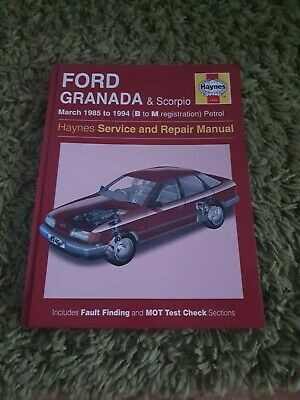 HAYNES Ford Granada & Scorpio Haynes Service And Repair Manual  1985 To 1994    • 6£