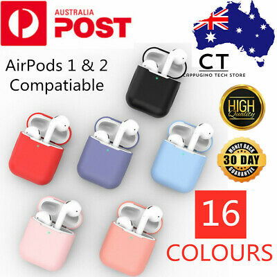AU5.45 • Buy For Apple AirPods Case 1 2 LED Visible Silicone Cover Slim Skin Anti Falling Oz