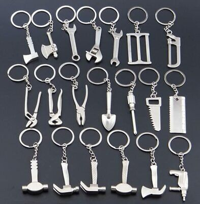 Creative Work Tools Saw Hammer Wrench Novelty Gadget Keyring Keychain Gift  • 2.99£