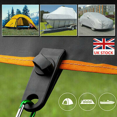 10/20/30 Pcs Reusable Camping Windproof Awning Clamp Tarp Clips Snap Hanger Tent • 9.88£