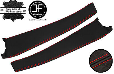 $ CDN208.32 • Buy Red Stitch 2x Door Sill Trim Top Grain Leather Cover For Lotus Elise S2 01-06