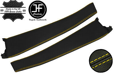 $ CDN208.32 • Buy Yellow Stitch 2x Door Sill Trim Top Grain Leather Cover For Lotus Elise S2 01-06
