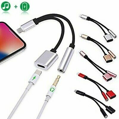 £5.95 • Buy For IPhone IOS 7 8 X 11 12  To 3.5mm Headphone Jack Audio AUX Splitter Adapter