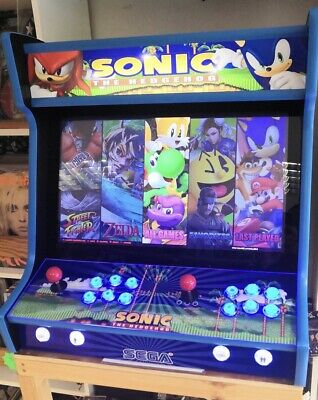"""2-Player 24"""" Bartop Arcade Machine With 1000's Of Games Sonic Theme • 499£"""