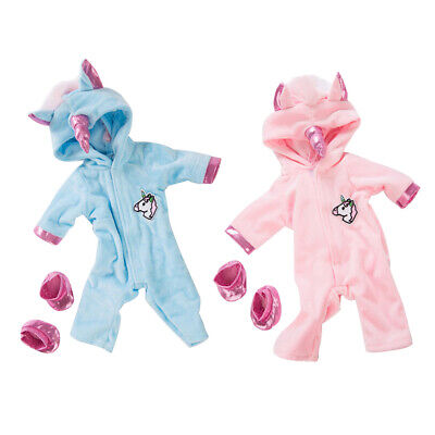 18inch Dolls Clothes - Unicorn Jumpsuit Rompers - Sleepwear Pajamas Clothes For • 4.93£