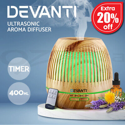 AU37.95 • Buy Devanti Aromatherapy Diffuser Aroma Essential Oils Air Humidifier LED Light